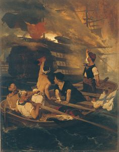 Greek War of Independence, attack to the turkish flagship by a fireship commanded by Kanaris at the island of Chios Island, Greece. by Nikiforos Lytras Richard Burlet, Greek Independence, Famous Portraits, Greek Warrior, Winslow Homer, History Page, Greek History, Greek Art, Chiaroscuro