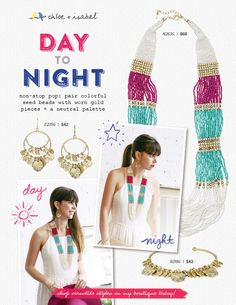 Shop day-to-night styles on my c+i boutique! #global #tribal #beaded #necklace #chloeandisabel #jewelry