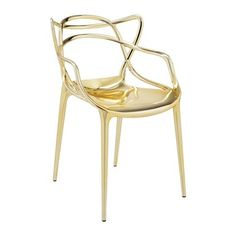 Designed by internationally renowned designer Philippe Starck, the Kartell Masters Chair in chrome combines a clever and captivating fusion of influences to striking effect. The Philippe Starck Masters Chair gives a playful nod to distinguis Eero Saarinen, Philippe Starck, Charles Eames, Arne Jacobsen, Chaise Masters, Eiffel Chair, Stylish Chairs, Kartell, Metal Chairs