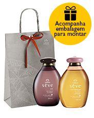 Presente Natura Sève - Óleo Desodorante Corporal + Embalagem Desmontada