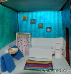A shell for you sink, an iphone case for your shower... check out our new Dolls' House bathroom...