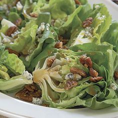 Wedge Salad with Spicy Pecans and Blue Cheese - FineCooking
