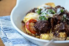 blissfulb - bliss blog - blissful eats with tina jeffers: Braised beef shanks with cheesy polenta