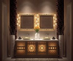 Moroccan Bathroom Design - Best Of Moroccan Bathroom Design, 10 bathroom decorating ideas for moroccan style lovers Double Sink Bathroom, Bathroom Sink Vanity, Bathroom Spa, Bathroom Interior, Small Bathroom, Bathroom Ideas, Bathroom Remodeling, Bathrooms Decor, Bathroom Pictures