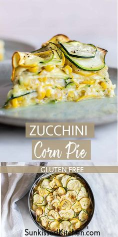 A summery vegetable pie made from sweet corn and zucchini! A great vegetarian ca… A summery vegetable pie made from sweet corn and zucchini! A great vegetarian casserole dish with your garden vegetables. Tasty Vegetarian Recipes, Veggie Recipes, Cooking Recipes, Healthy Recipes, Vegetarian Sweets, Fish Recipes, Chicken Recipes, Steak Recipes, Shrimp Recipes