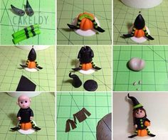 Halloween witch cake topper tutorial by The California Cakeldy.