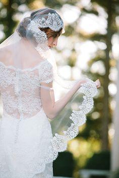 Sareh Nouri wedding gowns #laceveil http://www.weddingchicks.com/2013/11/18/sareh-nouri-bridal-collection-2/