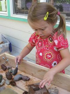 washing / painting rocks with water