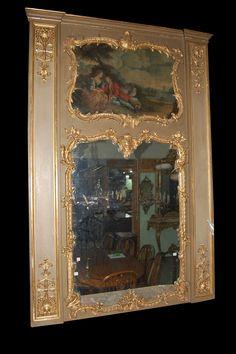 Massive Antique Trumeau Mirror Circa 1870