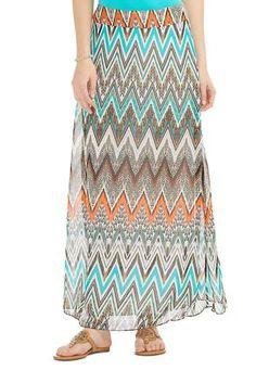 4f1cf9303ef  CATOSUMMERSTYLE Cato Fashions Sheer Chevron Layered Maxi Skirt - Plus  CatoFashions  Maxi Skirt Style