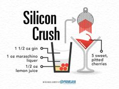 Today's cocktail - Silicon Crush - is inspired by our excitement for the upcoming Silicon Beach Fest! Check is out at www.siliconbeachfest.com!