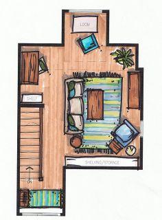 Floor plan by Inhabit Home Design, via Flickr