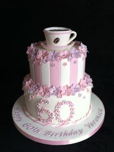 Coffee Cup 60th Birthday Cake Special Cakes