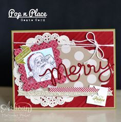 Great way to use the Pop & Place tags and stamps
