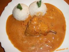 Kuře na paprice-trochu jinak Czech Recipes, Ethnic Recipes, Thai Red Curry, Face, Red Peppers, The Face, Faces, Facial