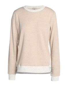 Clu Sweatshirt In Beige Clu, Round Collar, French Terry, Beige, Sweatshirts, Lace, Long Sleeve, Sleeves, Sweaters