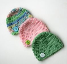 Baby girl hats pink mint green summer pastel by Loopedwithlove4U, $28.50