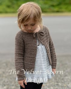CROCHET PATTERN-The Tangent Cardigan 6m 12/18m 2 by Thevelvetacorn