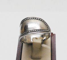 Silberring mit sw. gepunktetem Rand 18,6 mm SR223 von Atelier Regina auf DaWanda.com