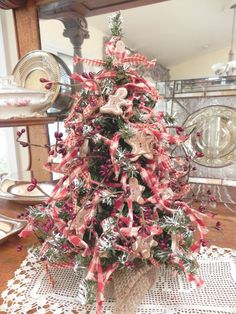 "Salt Dough Gingerbread 15"" Homespun Tree Primitive Gingerbread Decoration. $24.95, via Etsy."