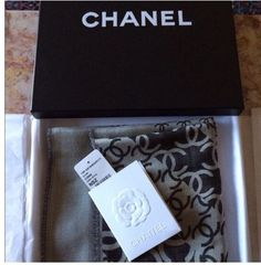 Chanel CHANEL Cashmere & Silk Long Scarf