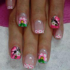 trendy nails art for kids flower Nail Art For Kids, New Nail Art, Diy Nail Designs, Nail Polish Designs, Gold Glitter Nails, Pink Nails, French Nails, Nagel Hacks, Trendy Nail Art