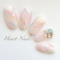 heartnail_20199さんのピンク,春,チップ,シースルー,ハンド,サンプルチップネイル♪[479798]|ネイルブック