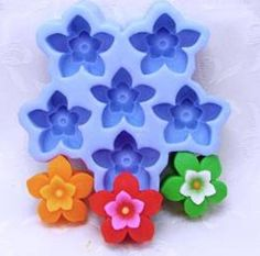 Flower Soap Mold Flexible Silicone Mould For Handmade Soap Candle Candy Cake Polymer Clay Mould Fimo Resin Crafts H0141