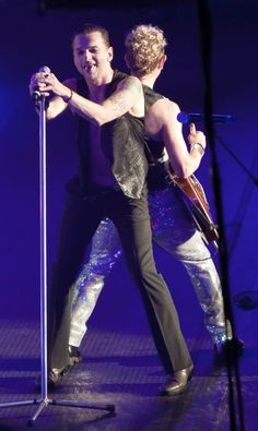 Dave Gahan & Martin Gore of Depeche Mode during TOTU