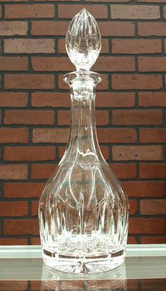 Valentines gifts ideas. Vintage Crystal Decanter wine decanter cognac by ArtMaxAntiques www.artmaxantiques.com