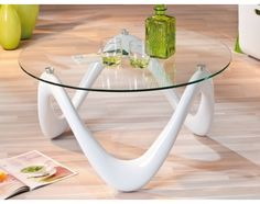 Glass coffee table for your living room, modern & contemporary. Tempered glass shaped in square, round, oval & rectangle. White Gloss Coffee Table, White Round Coffee Table, Coffee Tables Uk, Consoles, Design Tisch, Sunburst Mirror, Home Additions, Room Colors, Home And Living