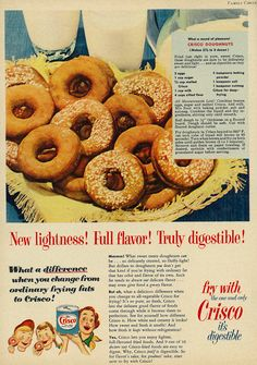 "Tagline: ""New lightness! Full flavor! Truly digestible!"" Published in Family Circle magazine, April 1952, Vol. 40 No. 4 Fair use/no known copyright. If you use this photo, please provide attribution credit; not for commercial use (see Creative Commons license)."