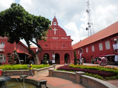 Melaka; Dutch Square (city hall and church)