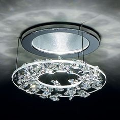Re purpose a decorative bowl as a recessed light cover amy krist elegance recessed lighting trim swarovski recessed lighting ylighting aloadofball Images
