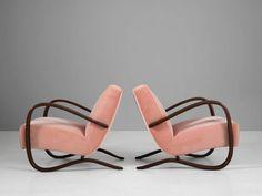 Jidrich Halabala fotel, art deco bútor