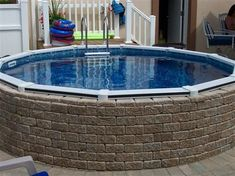 Above Ground Pool Ideas On Pinterest Retaining Walls Decks And Landscaping