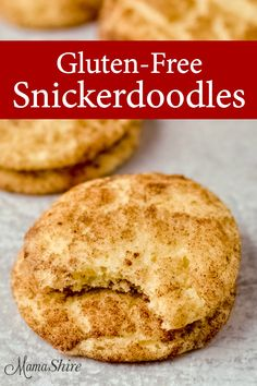 are one of the most loved cookies and this classic recipe has been adapted to make it gluten-free and dairy-free.Snickerdoodles are one of the most loved cookies and this classic recipe has been adapted to make it gluten-free and dairy-free. Cookies Sans Gluten, Dessert Sans Gluten, Dairy Free Cookies, Gluten Free Sweets, Gluten Free Diet, Foods With Gluten, Gluten Free Baking, Dairy Free Recipes, Gluten Free Christmas Cookies