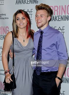 Paris Jackson and boyfriend Chester on the red carpet at the Deaf West Spring Awakening premiere.