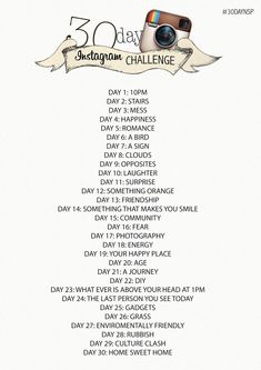 30 Day Instagram Photo Challenge - Doing this for March! …