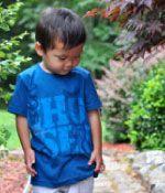 "The boy version of WILD OLIVE TEES ""chosen"" shirt! LOVE IT!"