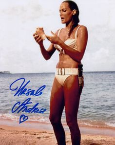 James bond girl ursula andress dr no autographed photo Ursula Andress, Timothy Dalton, James Bond Movies, Bond Girls, Sean Connery, Thing 1, Star Wars, Fashion Looks, Short Film