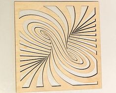 Wall Art/Home Decor/Wooden Shape Swirl Panel/Wooden Cut Out/Wall Wall Art/Psychedelic/Living Room Wall Decor/ Swirl Wall Art Eiffel Tower Art, Laser Art, Single Rose, Wooden Shapes, 3d Wall Art, Scroll Saw Patterns, Wood Crafts, Diy Crafts, Woodworking Projects Diy