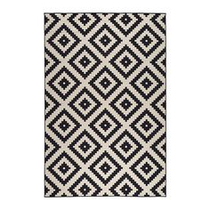 IKEA LAPPLJUNG RUTA Rug, low pile White/black 200 x 300 cm Ideal in your living room or under your dining table since the flat-woven surface makes it easy to pull out the chairs and vacuum. Room Size Rugs, Medium Rugs, Big Rugs, Affordable Rugs, Cheap Rugs, Cheap Large Rugs, Rugs In Living Room, Bedroom Rugs, Modern Rugs