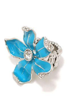 Aqua flower ring, wishit was purple though