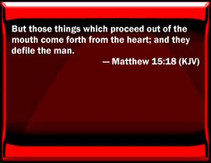 This is why I despise cursing. You say you're a Christian, yet you talk like the world. Makes you a hypocrite Matthew 15:18