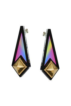 Sarah Angold For Freedom Diamond Shape Earrings - Jewellery - Bags & Accessories - Topshop