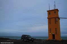 Our SADCars Landcruiser was perfect for getting us out to lighthouses like this in East Iceland