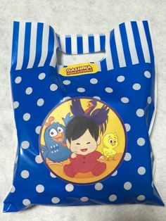 Personalized sticker for Lottie Dottie Chicken party surprise bag