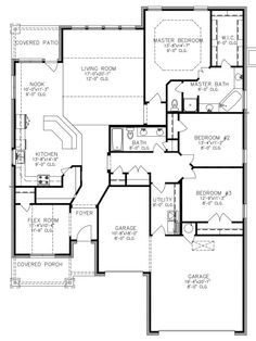 Mallory Floor Plan. I would change the additional garage space to a large dining room for family feasting instead. All that would be necessary is closing off from main garage space and opening to the foyer.