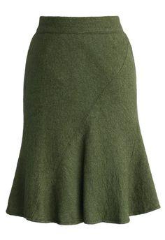 skirt, chicwish, flared tweed skirt, green skirt, fashion and classic - Wheretoget Led Dress, Dress Skirt, Tulip Skirt, Swag Dress, Skirt Outfits, Dress Shoes, Fashion Brand, Womens Fashion, Tweed Skirt